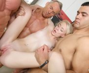 Mia Rose first ever gang bang captured by My Very First Time
