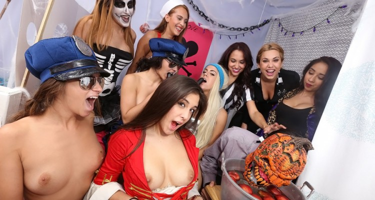 Halloween party turns into an orgy
