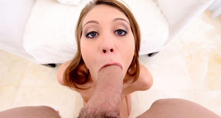 Jojo Kiss gagging on a big dick at Teens Love Huge Cocks