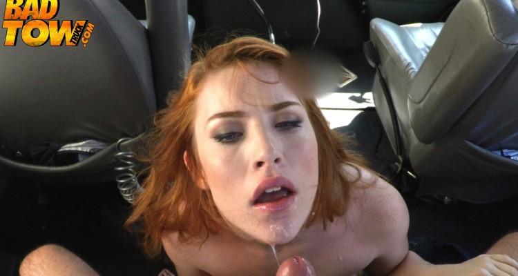 Redhead get facialized