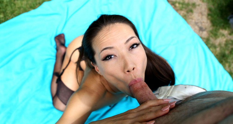 Kalina Ryu on her knees at Property Sex