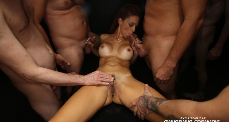 Eva Long gangbang session