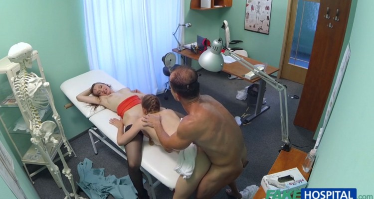 Lucky doctor fucks two girls