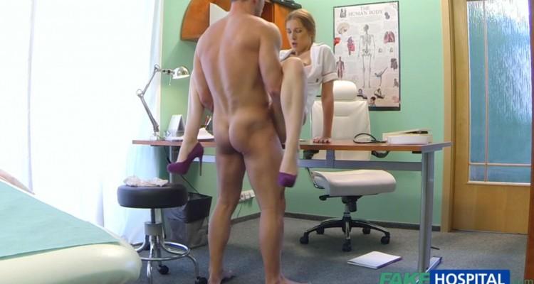 Horny nurse gets a hard fucking