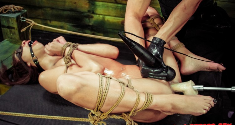 Esmi Lee blindfolded at Sexual Disgrace