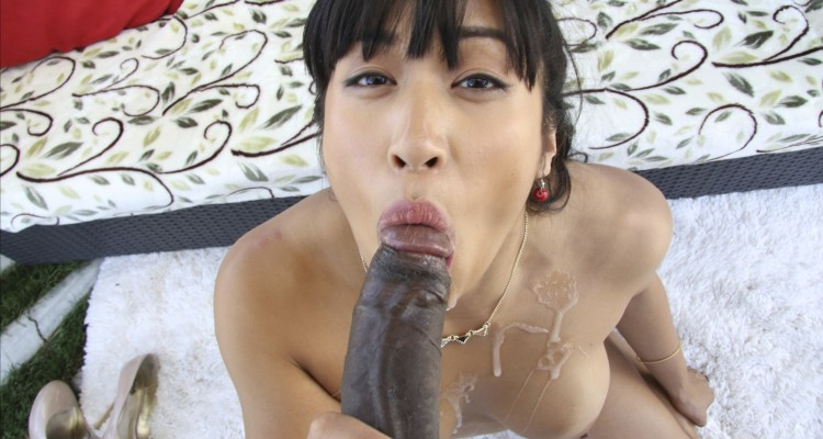 Mia Li gets covered in fresh cum