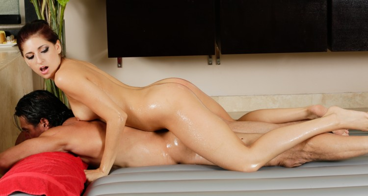 Nikki Knightly gives a slippery massage
