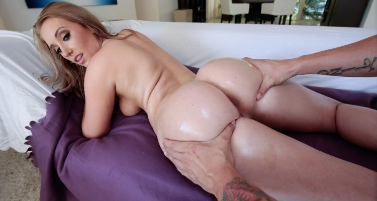 Squeezing Harley Jade's booty