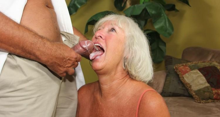 Grandma likes cum