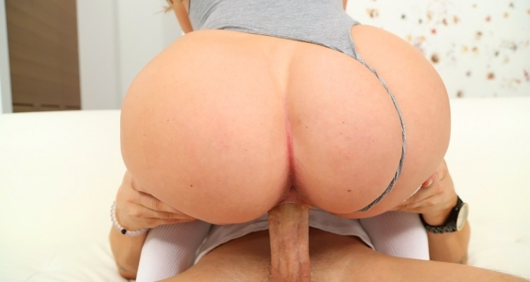 bubble butt rides hard cock