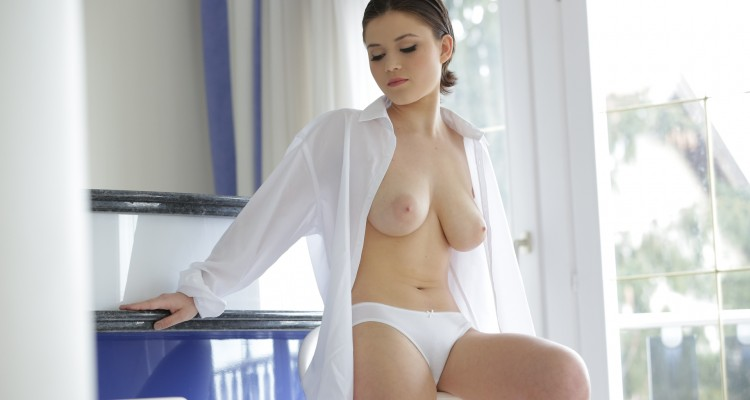 Veronica Morre from 21 Naturals showing off her perfect breasts