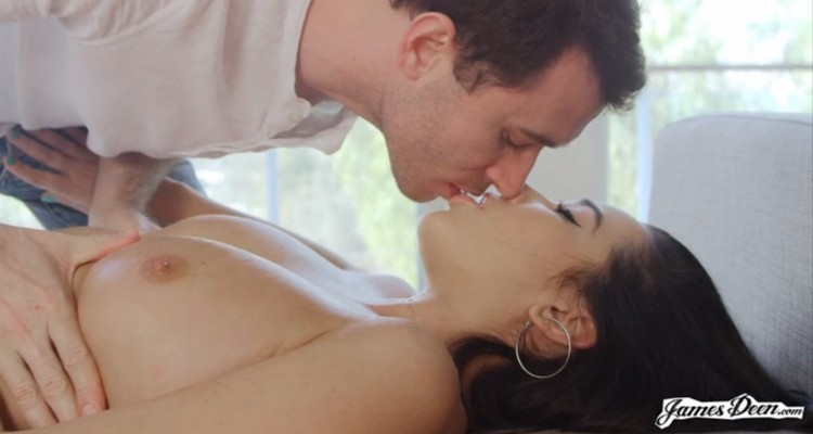 James Deen kissing Karlee Grey