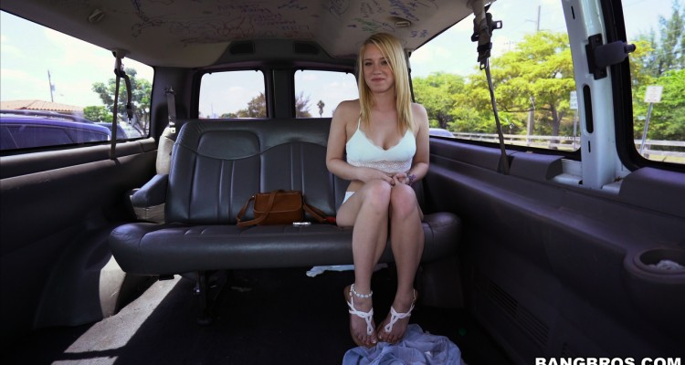Hot blonde Bailey Brooke visits Bang Bus