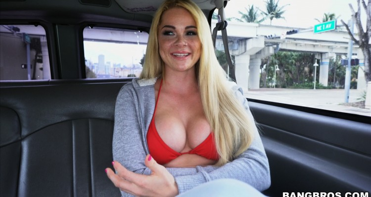 Skyla is all smiles before her Bang Bus experience