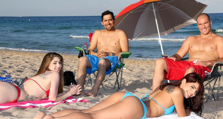Gina Valentina and Kobi Brian sunbathing