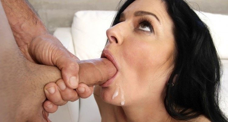 Natalie gets a mouthful