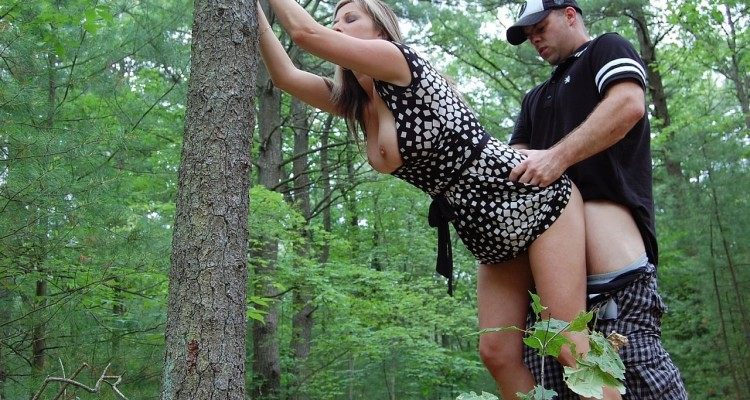 amateur couple have sex in the woods