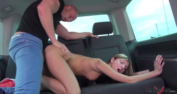 petite Gina fucked in van