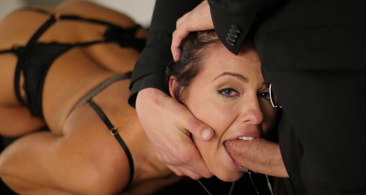 porn slut gets throat fucked