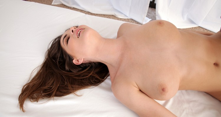 Busty brunette Molly Jane is in ecstasy