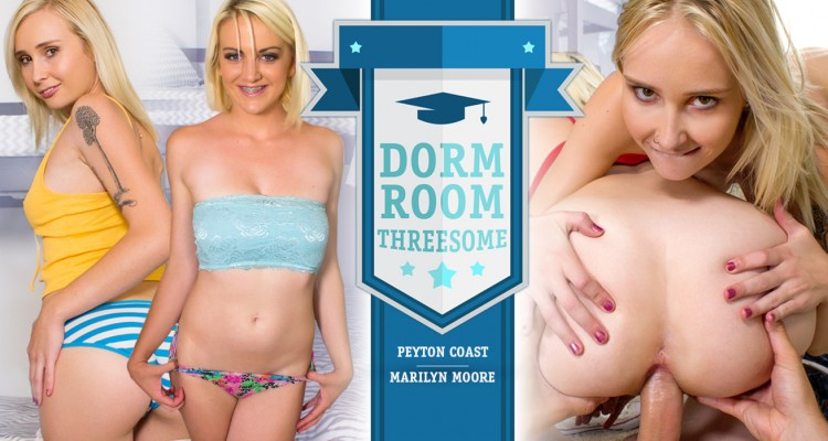 Have a threeway with two blonde porn starlets