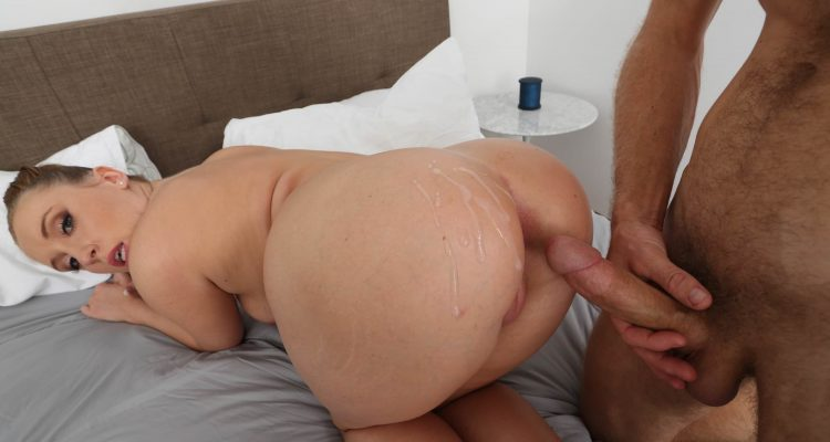 PAWG Harley Jade takes a cumshot all over her booty