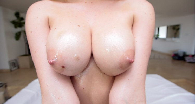 a nice pair of freshly jizzed on boobs
