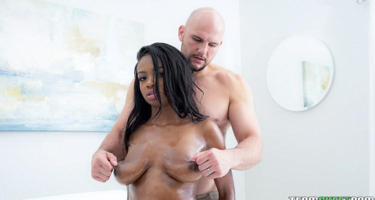 tweaking her nipples