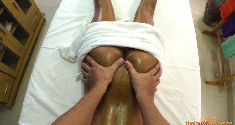 Elle receives an ass massage